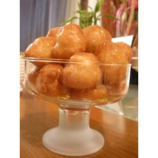 ready mix for loukoumades ( honey & cinnamon puffs )